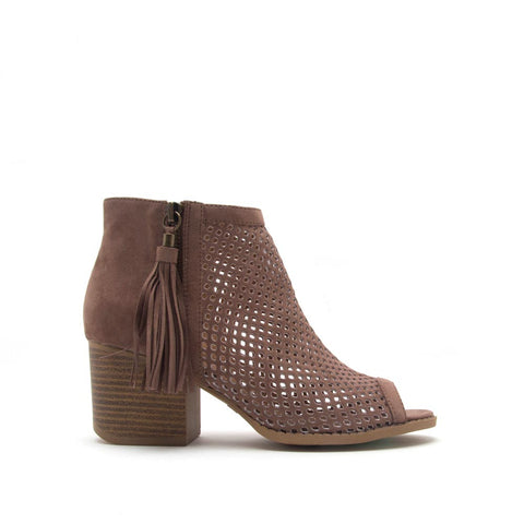 Core-18 Nutmeg Cut Out Peep Toe Bootie