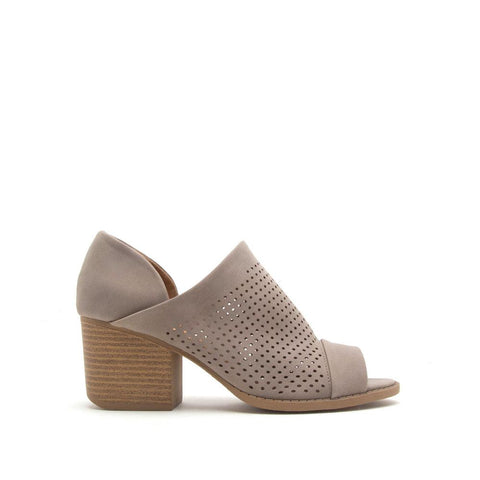 Core-55 Taupe Peep Toe Perforated Bootie