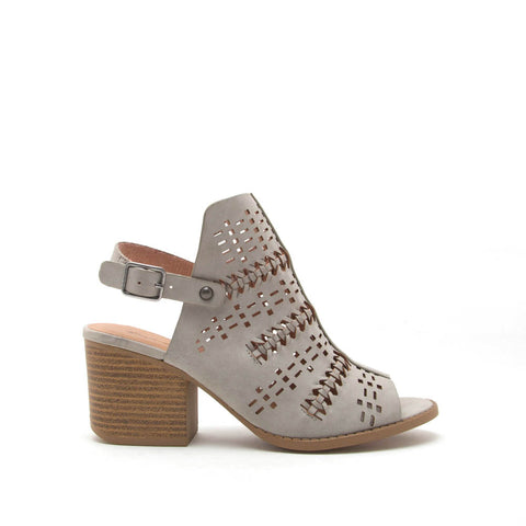 Core-78 Light Grey Perforated Mule Slingback Sandal