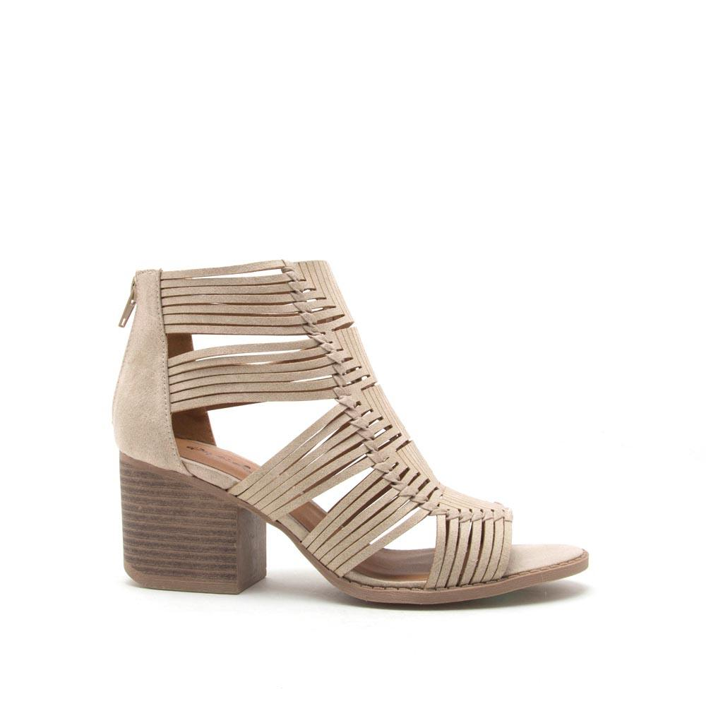 Core-88 Stone Strappy Caged Sandal