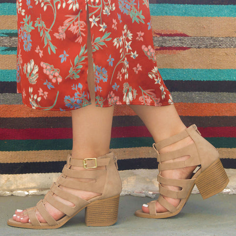 Core-91X Taupe Strappy Sandal