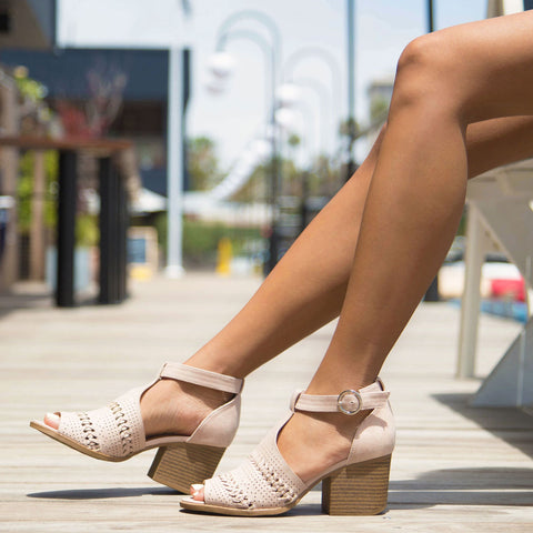 7c8678cc9c54 Core-94 Nude Open Toe Strappy Sandal