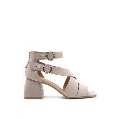 Cray-06 Taupe Strappy Buckle Sandal