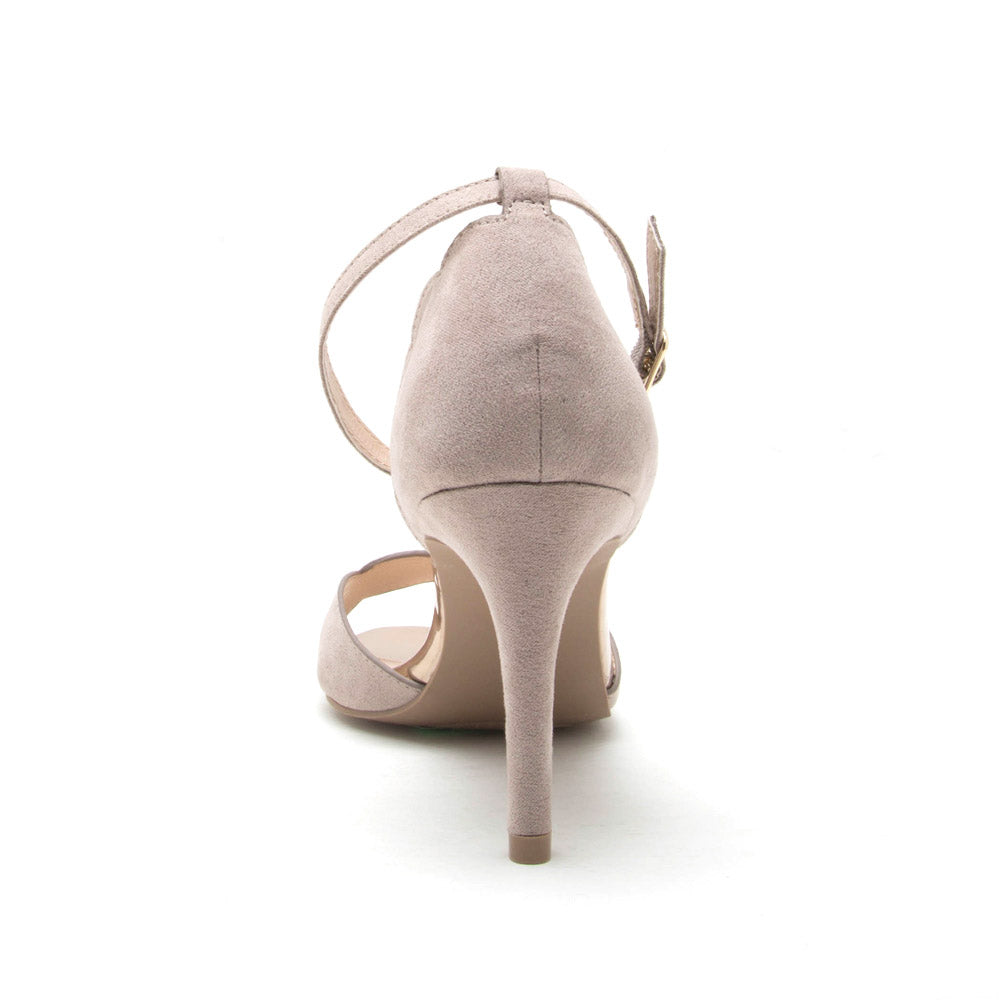 Cullen-07 Taupe Ankle Strap Sandal