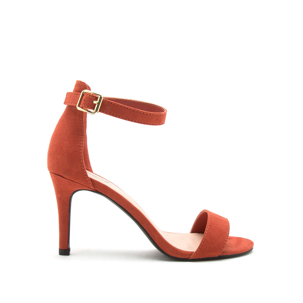 Cullen-12 Brick One Band Ankle Strap Sandal