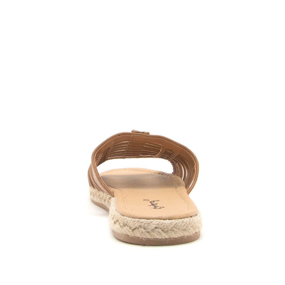 Dalisha-02 Camel Strappy Slides