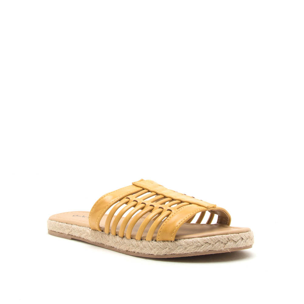 Dalisha-02 Yellow Strappy Slides