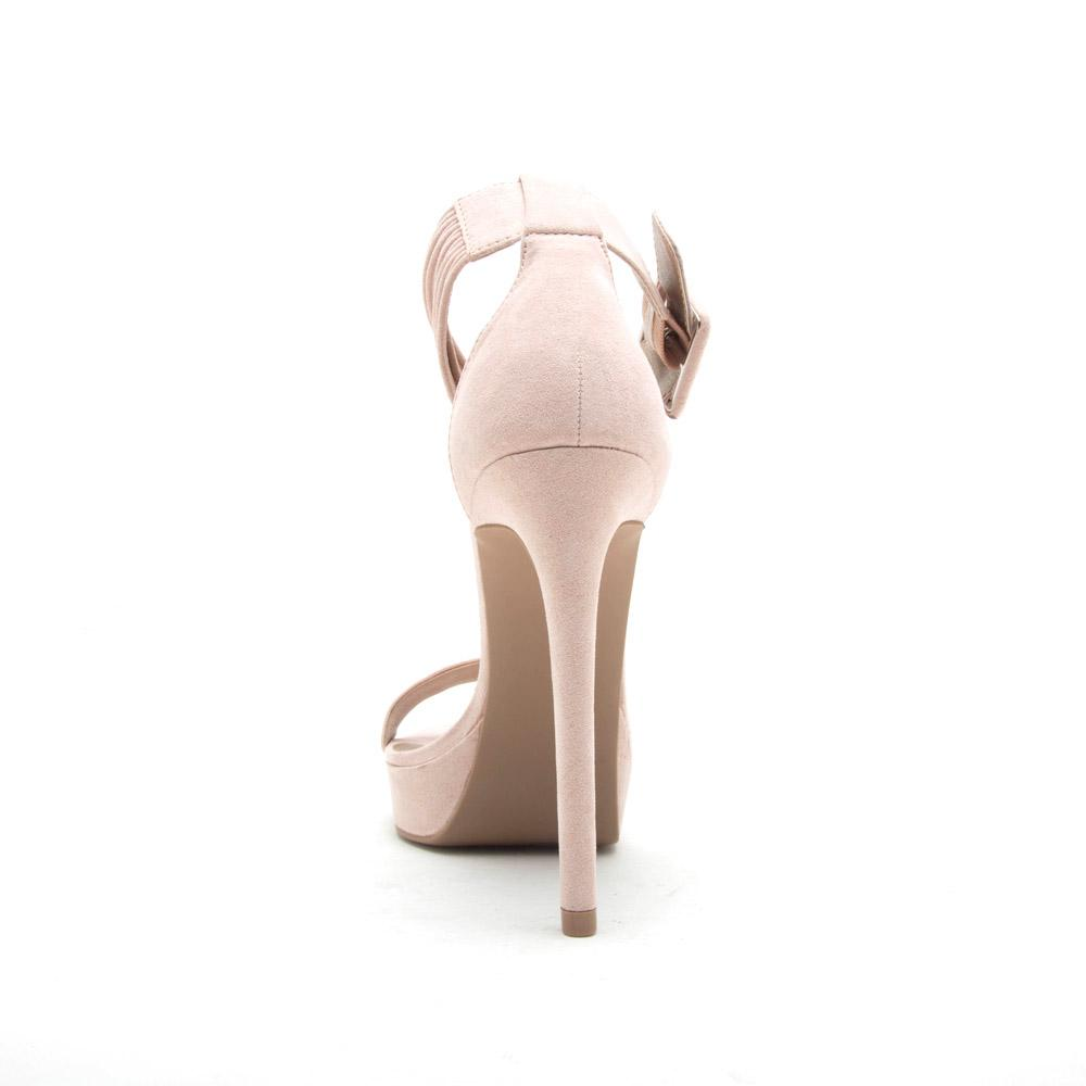 Dani-19X Nude One Band Ankle Strap Sandal