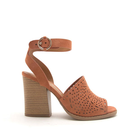 Dayoff-27 Hazel Perforated Wood Sandals
