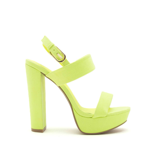 Dearly-08 Neon Yellow Block Heels
