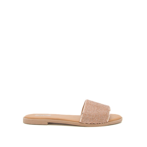 Desmond-01XX Rose Gold Metallic One Band Slides