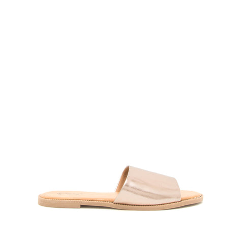 Desmond-50 Rose Gold Metallic One Band Slides