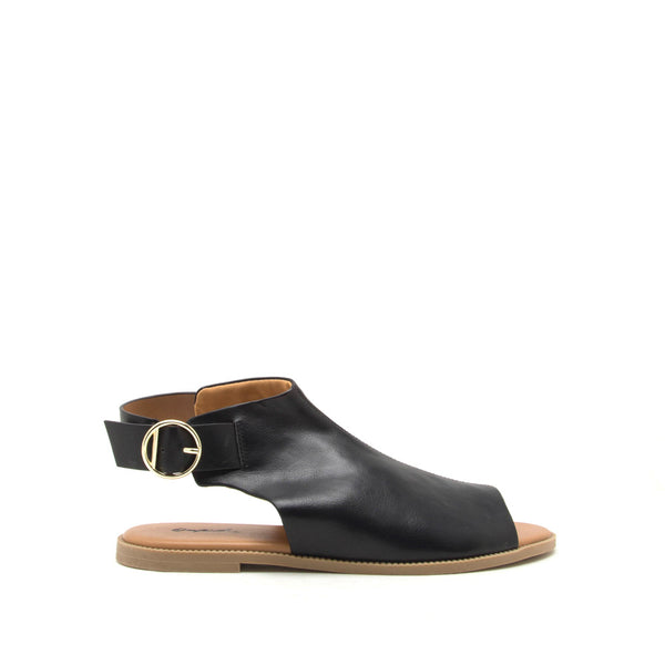 Desmond-53 Black Open Toe Mule Sandals