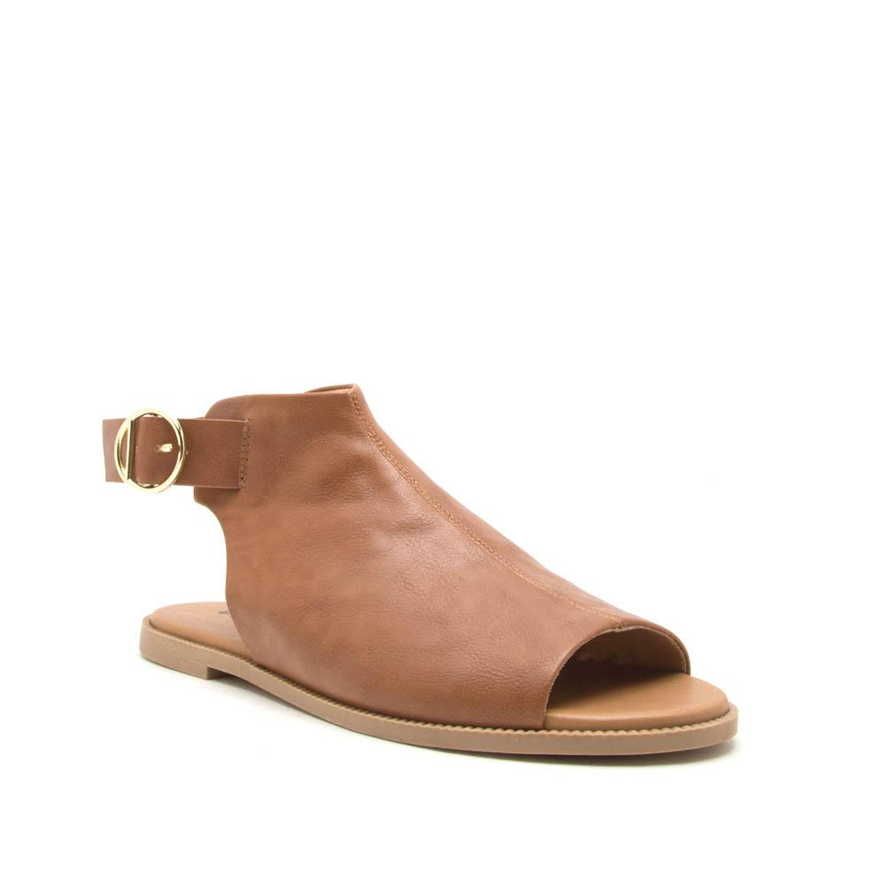 Desmond-53 Camel Open Toe Mule Sandals