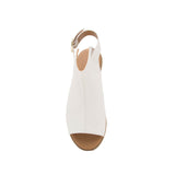 Desmond-53 White Open Toe Mule Sandals