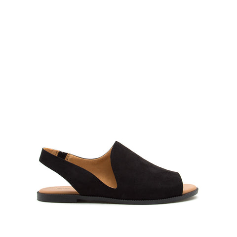 Desmond-64X Black Open Toe Slingback Sandals