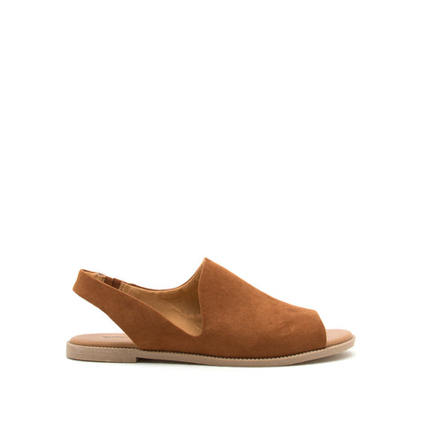Desmond-64X Chestnut Open Toe Slingback Sandals
