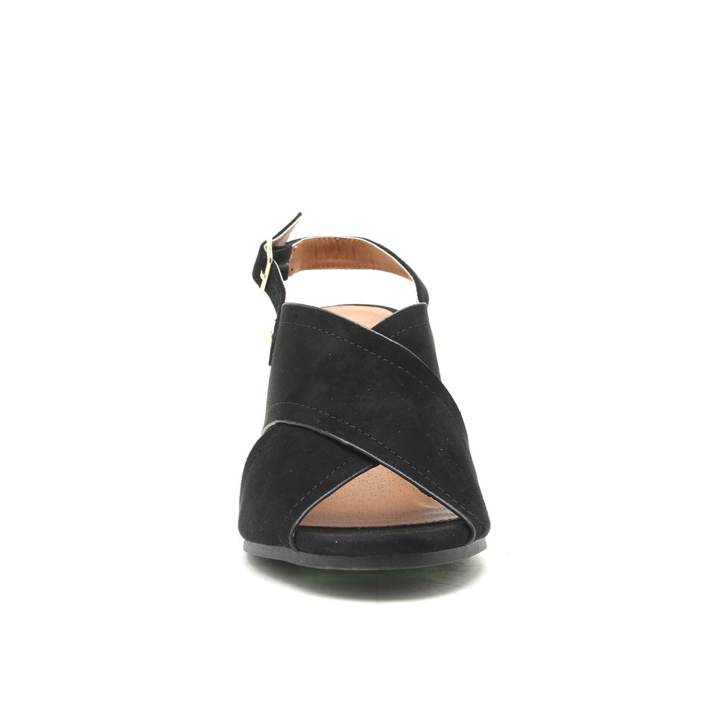 Devin-11 Black X Band Sandals