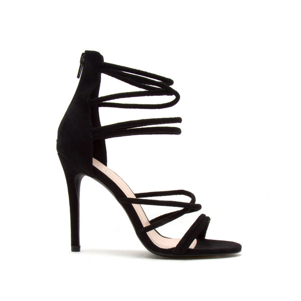 Dezi-06 Black Strappy Sandal