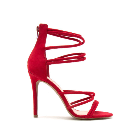 Dezi-06 Red Strappy Sandal