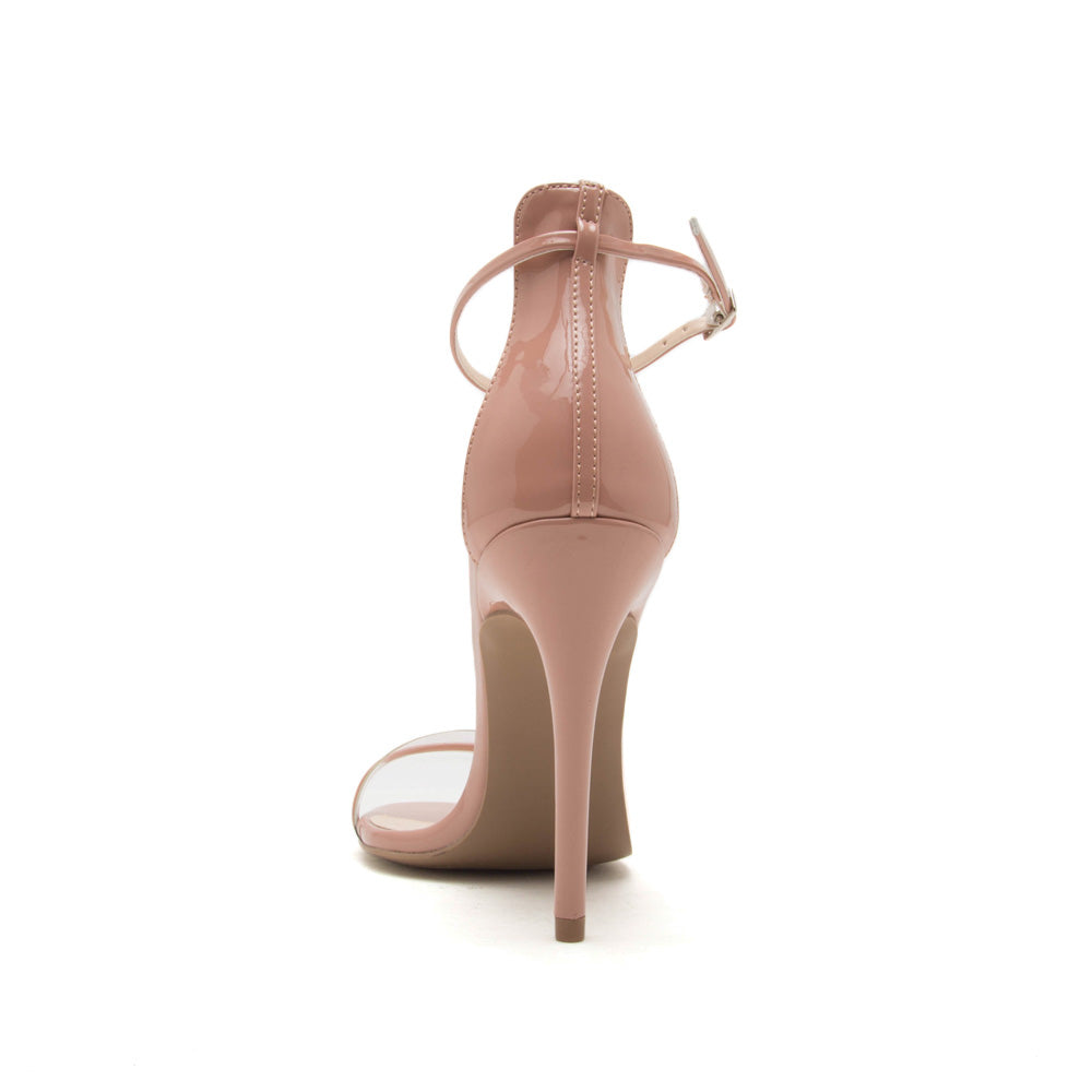 Diti-02AX Blush One Band Ankle Strap Sandal