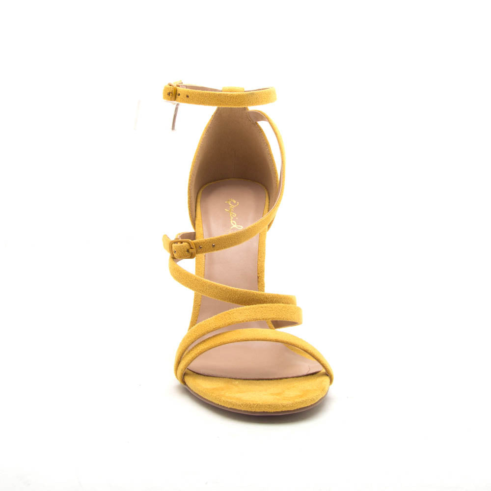 Diti-33A Yellow Strappy Heel