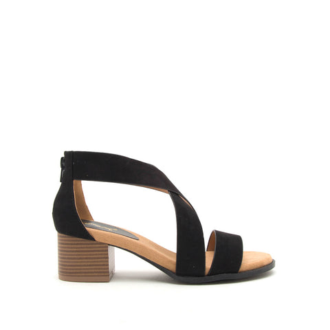 Doria-01E Black X Band One Band Sandal
