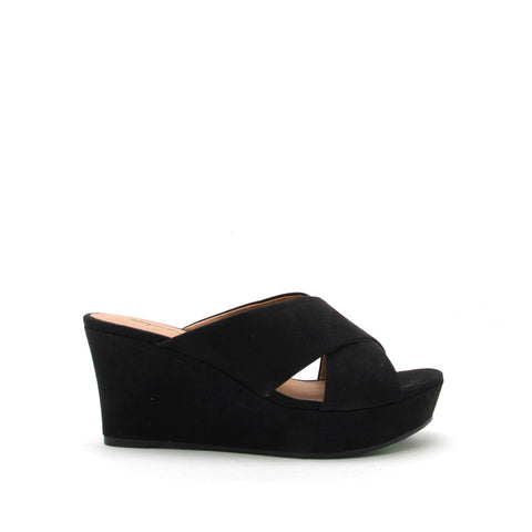 Ebbe-17 Black X Band Wedge Sandal