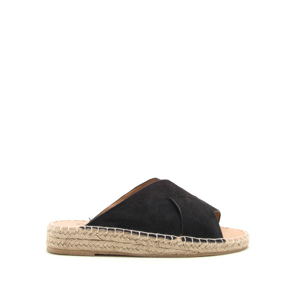 Elmore-29A Black X Band Sandals