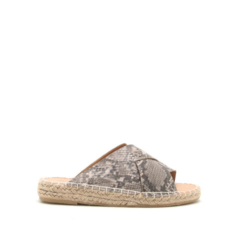 Elmore-29A Taupe Black Snake X Band Sandals