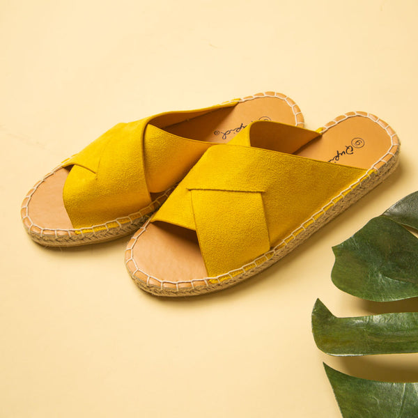 Elmore-29A Yellow X Band Sandals