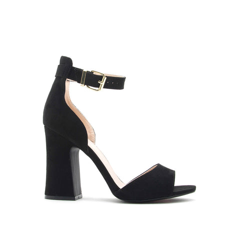 Everly-35 Black Ankle Strap Sandal