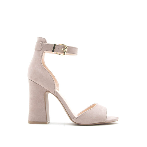 Everly-35 Taupe Ankle Strap Sandal
