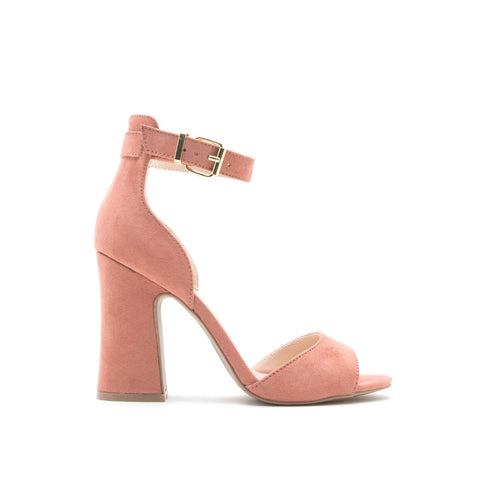 Everly-35 Dusty Blush Ankle Strap Sandal