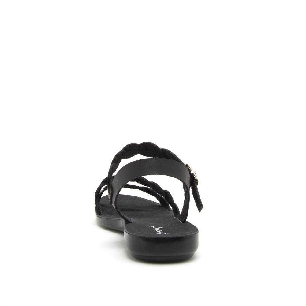 Eyecatch-05 Black Braided Gladiator Sandal