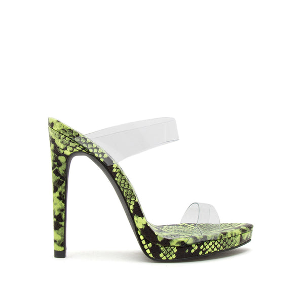 Fearless-02 Neon Yellow Snake Double Band Slides