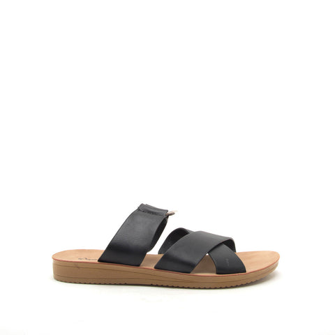 Flex-03 Black O Ring Strappy Slides
