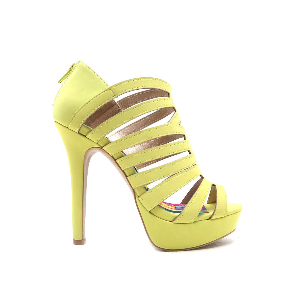 Summer Nights Platform Heels (Gaze-481X Lemon Lime)