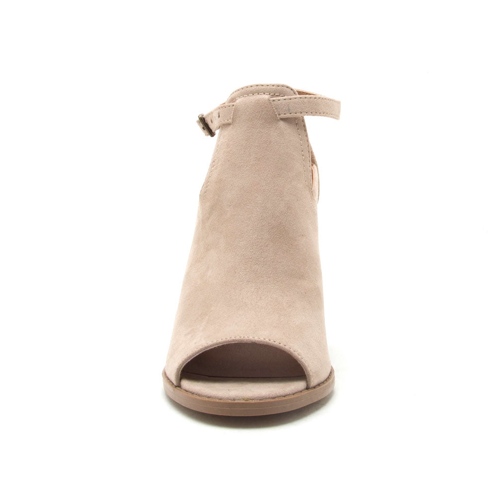 Georgia-01 Light Taupe Peep Toe Bootie