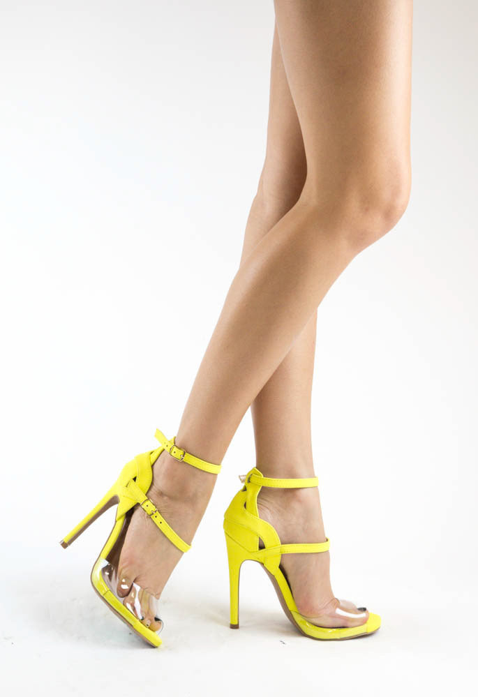 Qupid GLEE-91 Neon Yellow Model View