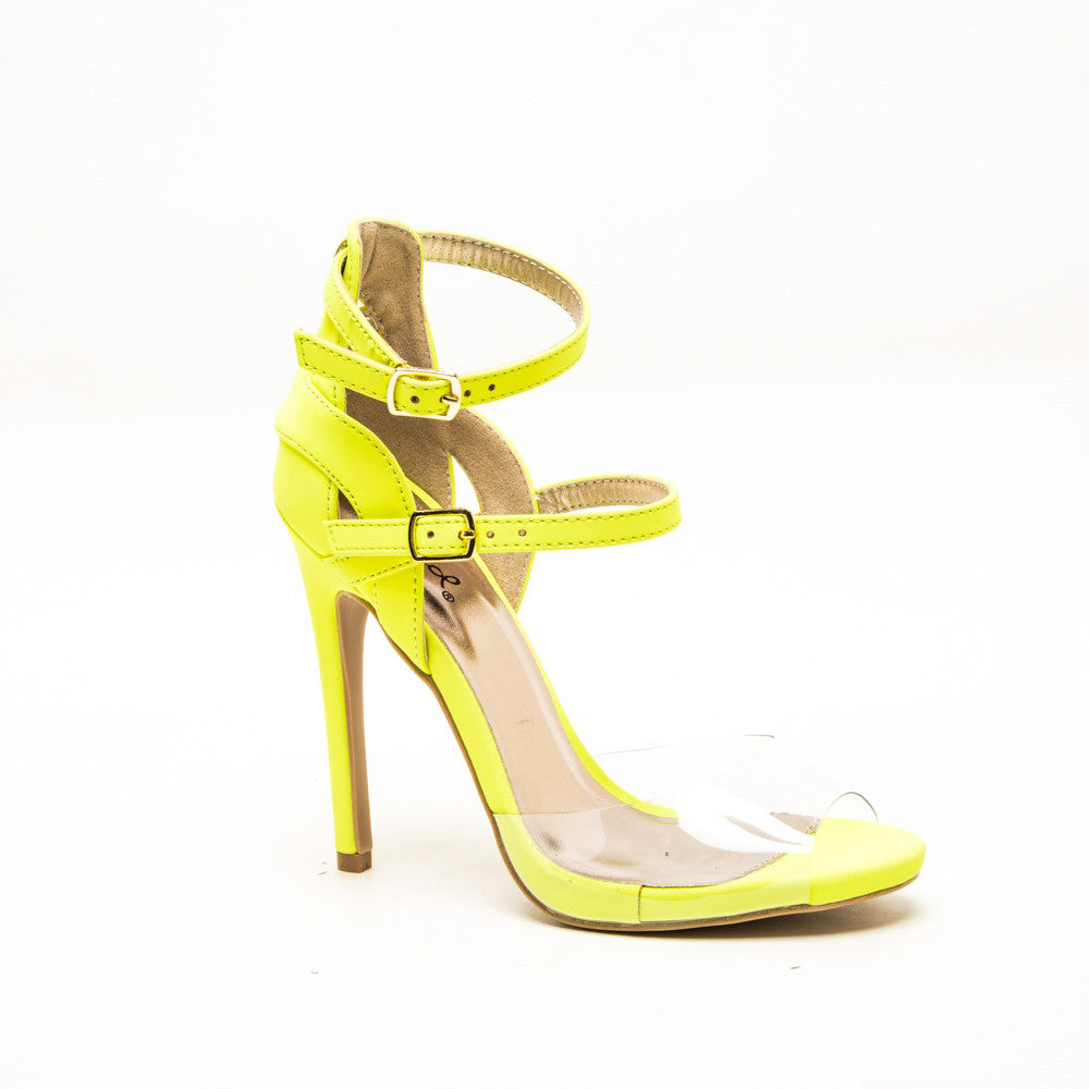 Qupid GLEE-91 Neon Yellow 1/4 View