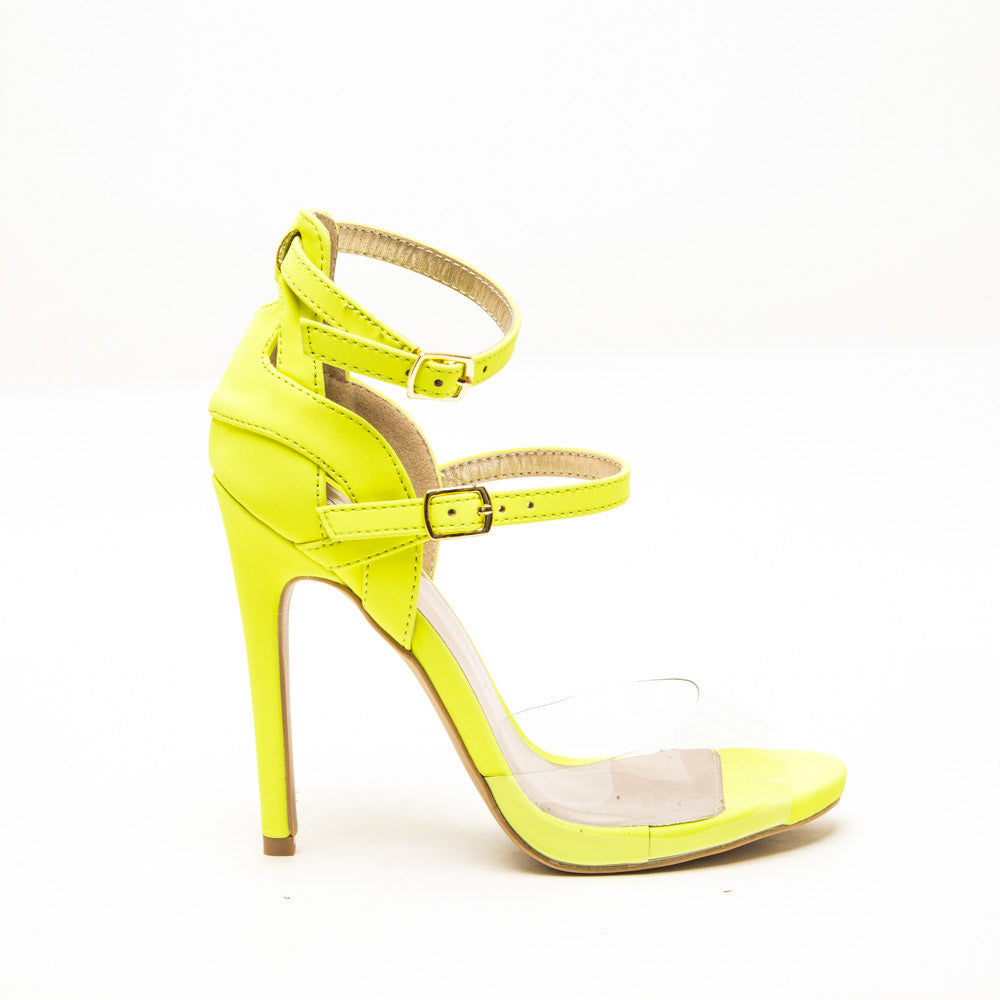 Qupid GLEE-91 Neon Yellow 1/2 View