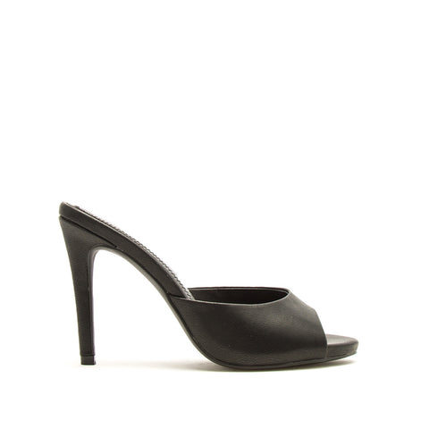 Grammy-266 Black Slide In Heels