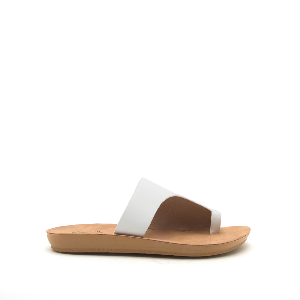 Hip-01 White Toe Ring Sandals