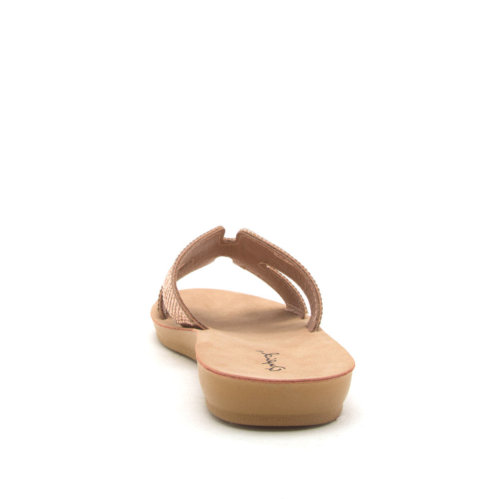 Hip-02 Rose Gold One Band Slides