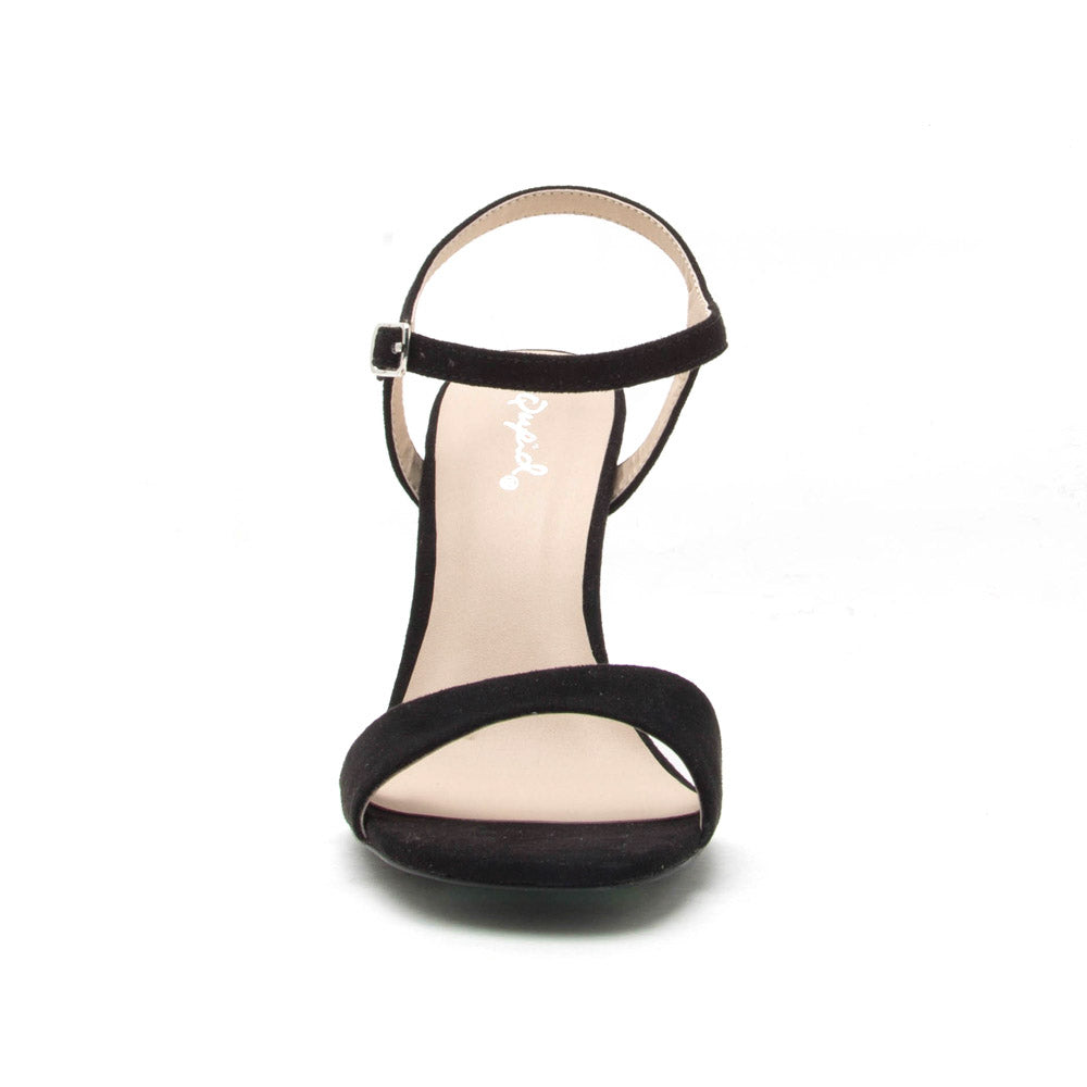 Hurst-31 Black One Band Ankle Strap Sandal