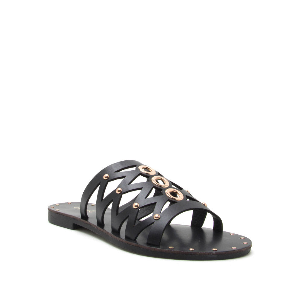 Indeed-01 Black Studded Slide