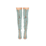 Interest-161XX Light Blue Denim Over The Knee