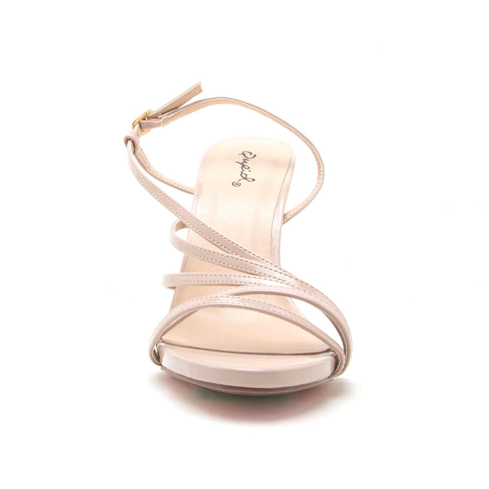 Jealous-12A Nude Strappy Sandals