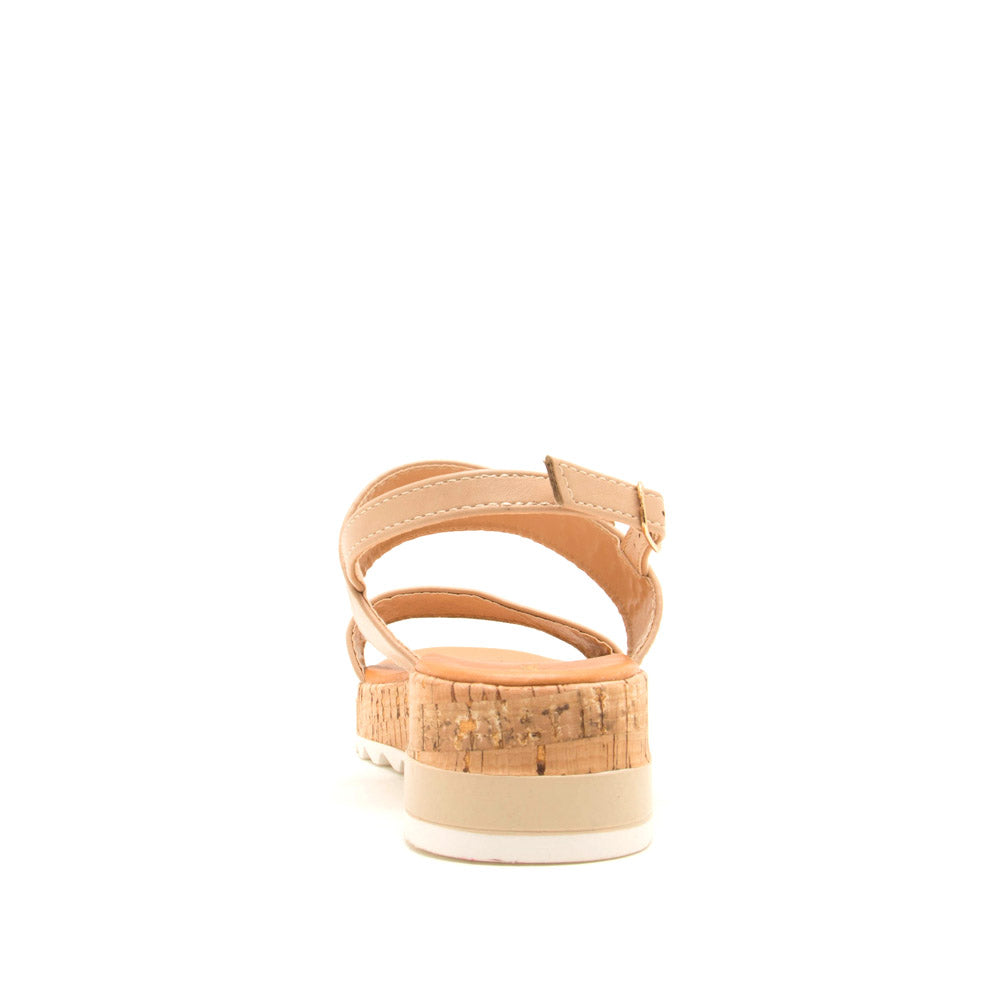 Jecca-01 Nude Double Band Ankle Strap Sandals